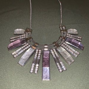 Purple and silver necklace.